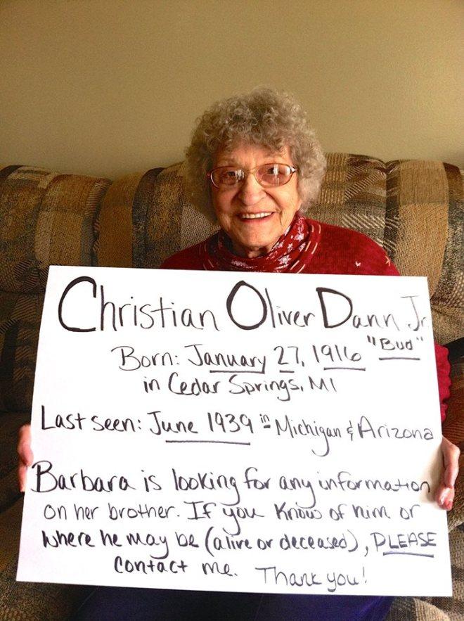 Searching for Christian Oliver Dann Jr