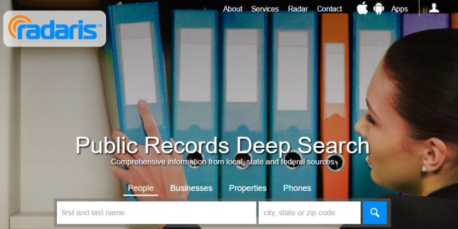 Radaris people and business search public records